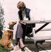 Sandra and Dog 1
